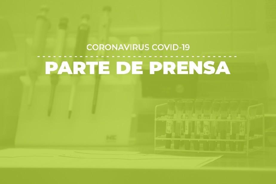 COVID-19: Parte de prensa (08/05)